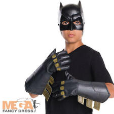 BATMAN Childs Costume Guanti DC Comic Book Day Ragazzi Costume Da Supereroe Nuovo