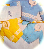 KNITTING PATTERNS PREMATURE BABY BOYS GIRLS CARDIGANS SWEATERS SHAWLS COATS NV12