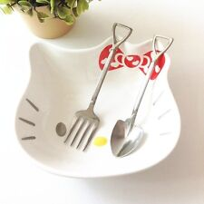 Stainless Steel Sapper Dig Shovel Style Children Cutlery Fork Spoon