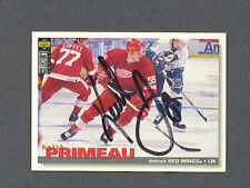 Keith Primeau signed Red Wings 1995-96 Upper Deck card
