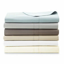 Hudson Park 800 TC Egyptian Cotton KING FLAT SHEET Linen beige $260 New