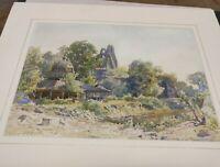 Herbert Arnould Olivier Watercolour PaintingOf Landscape With Ruins And Pavilion