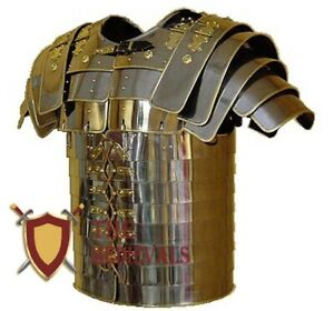 MEDIEVAL ROMAN LORICA SEGMENTATA ARMOR BRASS TRIMMED ROMAN LORICA SEGMENTA