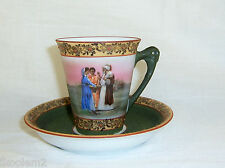 Royal Bayreuth Vintage Arab With Women Demi Cup & Saucer - Green Mark
