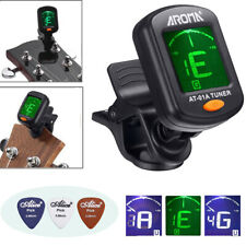 Digital Chromatic AT-01A Clip on Tuner for Acoustic Guitar, Electric Guitar