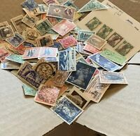 WW STAMPS BOX LOT OFF PAPER. THOUSANDS OF STAMPS, MANY FOREIGN COUNTRIES (NO US)