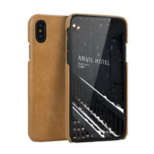 Luxury Genuine Leather Matte Back Hard Protective Case Skin Cover For iPhone 8