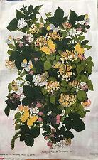 "Irish Linen Tea Towel~National Trust Lee Kay  Design ""HONEYSUCKLE & BRAMBLE"""