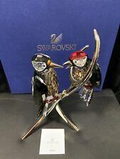 Swarovski Crystal Paradise Birds-Woodpeckers Black Diamond 957562