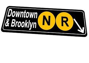 New York Subway Reproduction Street Sign Brooklyn New York City Sign