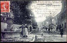 cpa 71 Fontaines les Chalon . Fontaine et Grande Rue . 1911