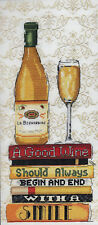 Juego de Punto de Cruz ~ Design Works Vino Blanco #Dw2983