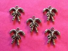 Tibetan Silver Christmas/Xmas Candy Canes Charms 5 per pack