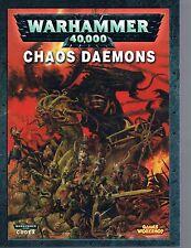 Warhammer 40,000 40K Codex: Chaos Daemons Pb 2007 Games Workshop Citadel