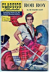 Classic Illustrated Comics #118, Rob Roy - $0.15, HRN119 - VG/Fine