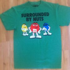 M&M's T-Shirt Vintage Men's Size Medium Surrounded By Nuts Green Collectable
