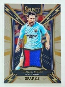 2017-18 Panini Select Lionel Messi Sparks Patch #SP-LM FC Barcelona Jersey NM