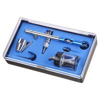 AW Dual Action Airbrush Kit 0.35 mm Nozzle Spray Gun Siphon Feed Nail Art Paint