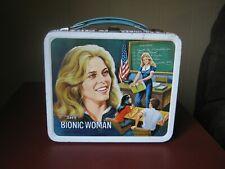 Vintage Aladdin 1977 The Bionic Woman Lindsay Wagner Metal Lunchbox