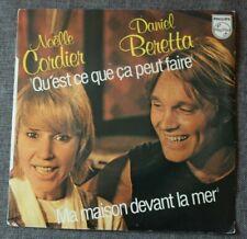 Noelle Cordier & Daniel Beretta, qu'est ce que ça peut faire + 1, SP - 45 tours
