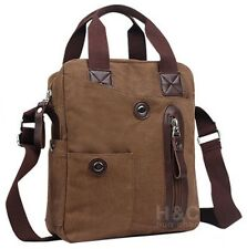 Men's Canvas Cross-Body Military Handbag Hiking Sling Shoulder Messenger Bag