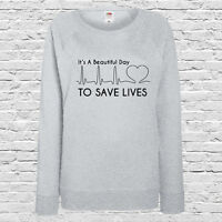 Grey's Anatomy Printed Ladies Jumper - It's A Beautiful Day To Save Lives