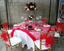 Satin Embroidered Table Cloths