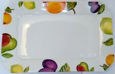 """Garry's Dried Fruit and Nuts Serving Platter Tray Since 1952 Ceramic Oven 15"""""""