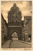 1931 Stempel TETEROW auf Postkarte Strassen Partie am Malchiner Tor alte AK