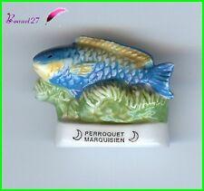 "Feve de collection Poisson Fisch Edition Atlas "" le Perroquet Marquisien "" #E33"
