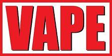 2'x4' Vape Vinyl Banner Sign - ecig, smoke, shop, ejuice - White