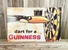 """Guinness Beer Darts 17.5"""" Metal Tin Sign Retro Vintage Style Garage Man Cave New"""
