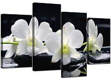 Extra Large Black White Lily Floral Canvas 130cm Wide Prints Art 4051