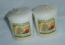 NEW! YANKEE CANDLE VOTIVE Candles ~ NORTH POLE (Lot of 2) ~ HTF / Rare