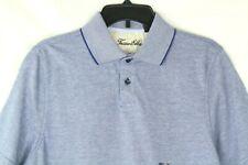 Tasso Elba Signature Textured Polo Men's Blue Shirt Size S Retail