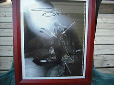 "Vai,Stev REAL hand SIGNED 8x10""Framed Promo Photo  Autographed Black and White"