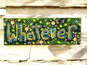 Raw Whimsical  painting original art GOSHRIN Cindy Bontempo