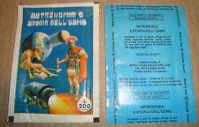 BUSTINA FIGURINE ASTRONOMIA E STORIA DELL'UOMO EDIZIONI ZANETTI '70 (STICKERS)