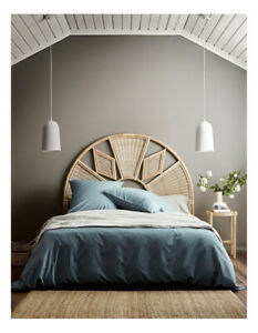 Aura Home Halo Organic Cotton Quilt Cover in Blue