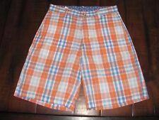 NWOT Boys J.Bailey Pete Shorts Red, white, blue check Sz 10 Adj. Waist