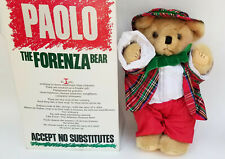 ADORABLE VINTAGE  PAOLO THE FORENZA TEDDY BEAR PLUSH STUFFED ANIMAL ~ 12""