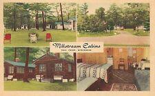 Millstream Cabins Fall Creek WI Roadside Postcard