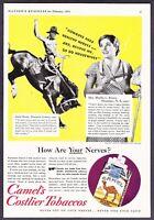 1934 Rodeo Champion Eddie Woods photo Camel Cigarettes vintage promo print ad