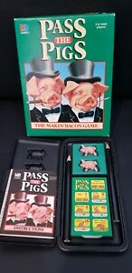 Vintage 1984 PASS THE PIGS Dice Game Milton Bradley Makin Bacon Complete boxed