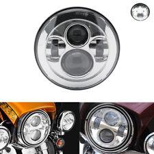 "Chrome 7"" Hi-Low Led Headlight For Harley Street Glide Softail FLFB FLH FatBoy"