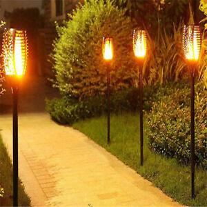 33LED Solar Power Torch Light Flickering Flame Garden Waterproof Yard Lamp