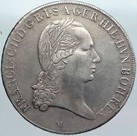 1794M AUSTRIA NETHERLANDS King Francis II Old Silver Kronentaler Coin i88068