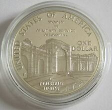 USA 1 Dollar 1994 Women in Military Service for America Memorial Silver Proof