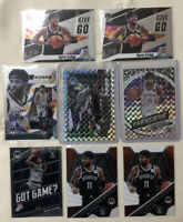Kyrie Irving 2020 Panini Mosaic Lot!! 8 Total Cards!! SWAGGER + OVERDRIVE Inc!!