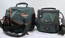 x2 Lot Lowepro Nova 2 And Mini Aw Camera Bag Green